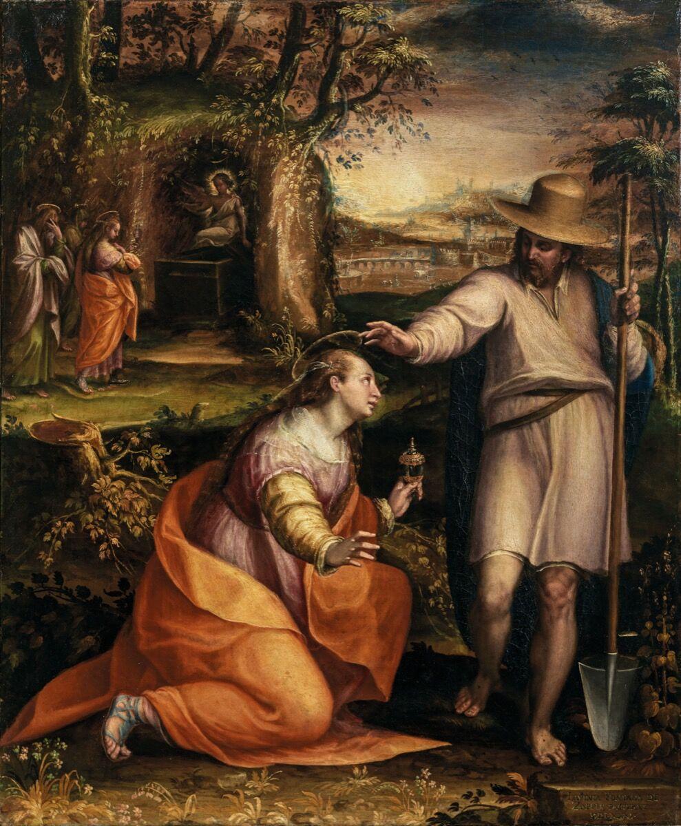 Lavinia Fontana, Noli me tangere, 1581. Courtesy of the Museo del Prado.