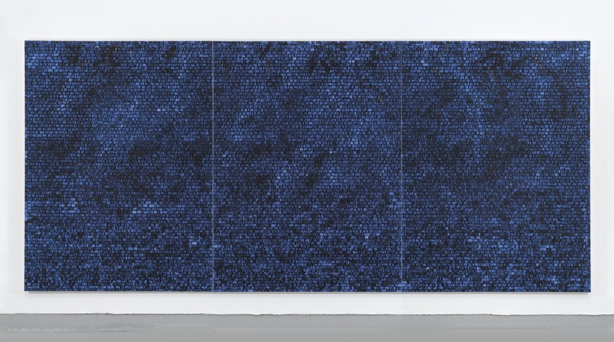 Jack Whitten, Quantum Wall (A Gift for Prince), 2016. Friedrich Christian Flick Collection. © Jack Whitten. Courtesy of the artist and Hauser & Wirth.