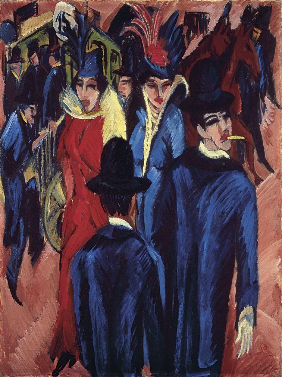 Ernst Ludwig Kirchner, Berlin Street Scene, 1913–14. Courtesy of the Neue Galerie, New York.