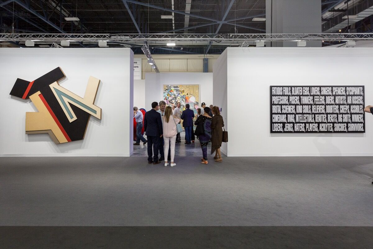 Installation view ofSprüth Magers's booth at Art Basel in Miami Beach, 2016. Photo by Alain Almiñana for Artsy.