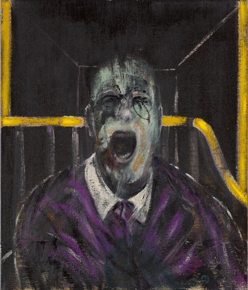Francis Bacon, Study for a Head, 1952. Cortesía de Sotheby & # x27; s.