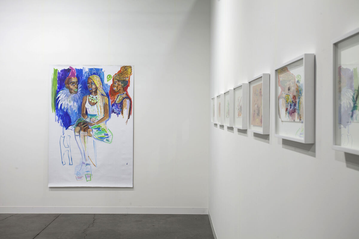 Works by Emily Sundblad installed in Algus Greenspon's booth at Art Basel in Miami Beach, 2015. Photo by Oriol Tarridas for Artsy.