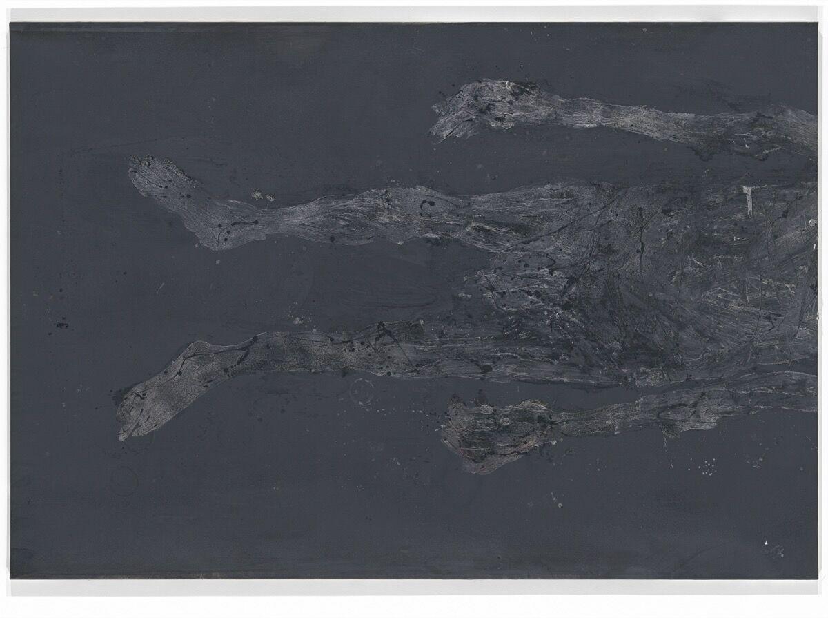 Georg Baselitz, Wir haben im Keller die Briketts mit Kreidepulver bestreut, 2015. © Georg Baselitz. Photo by Jochen Littkemann. Courtesy of Galerie Thaddaeus Ropac London, Paris, Salzburg.