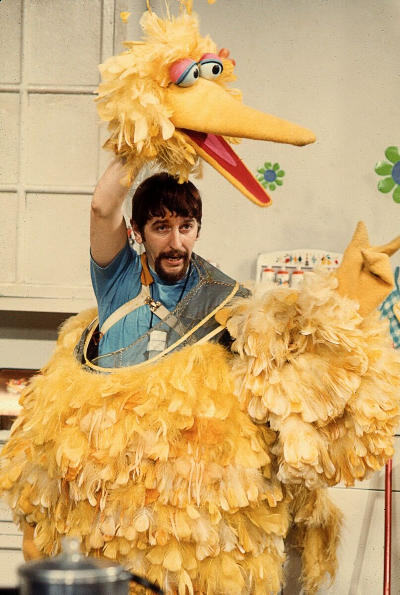 Caroll Spinney and Big Bird, early 1970s. Photo by Robert Fuhring. Courtesy of Sesame Workshop.