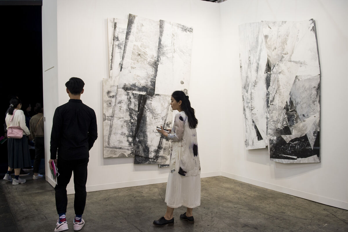 Installation view of Ink Studio's booth at Art Basel in Hong Kong, 2017. Courtesy of Art Basel.