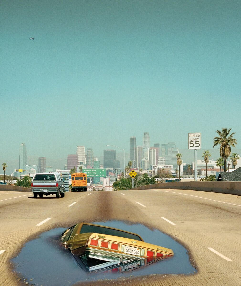 Alex Prager, 2pm Interstate 110, from the book Silver Lake Drive, 2012. Published by Chronicle Books.