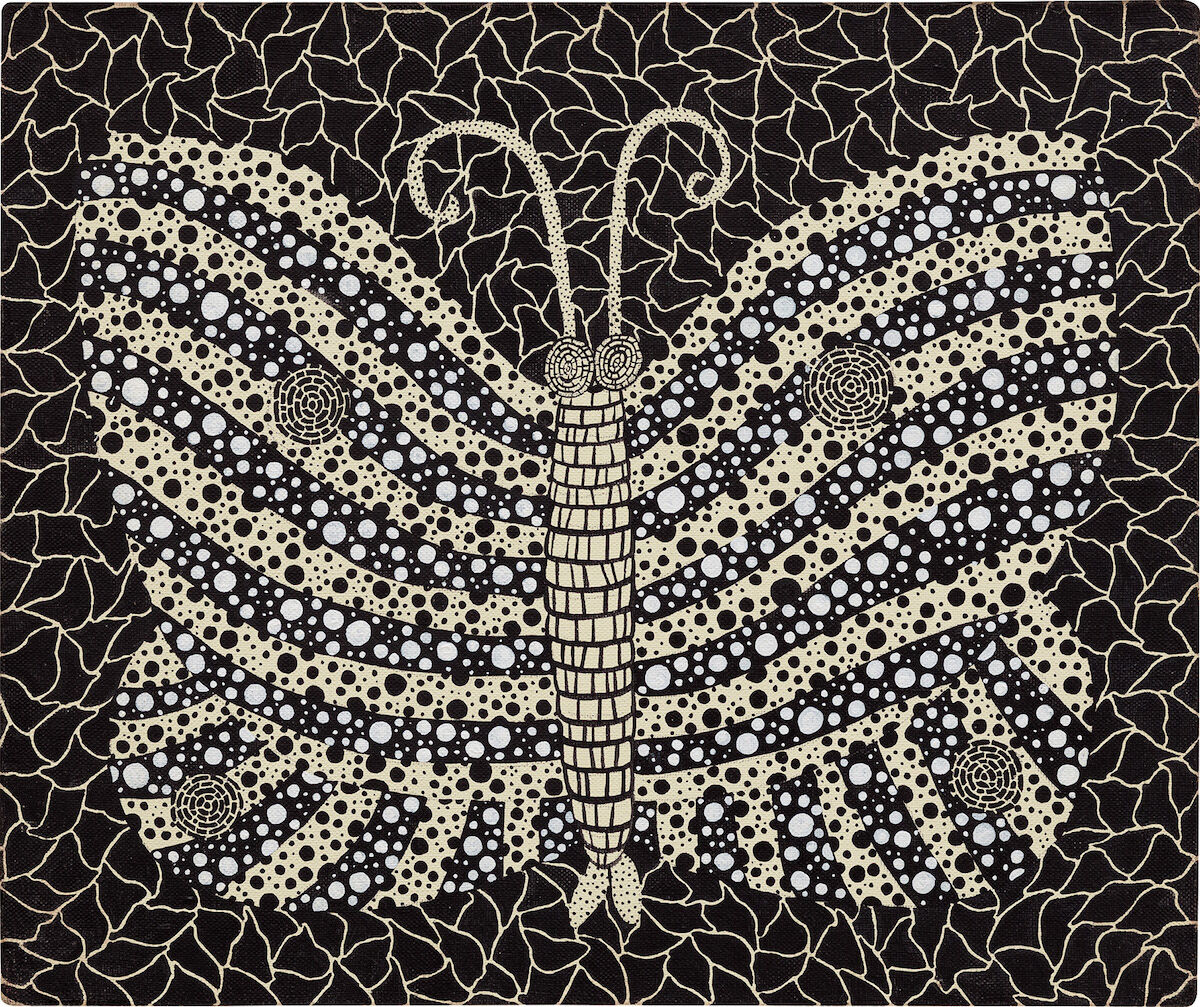 """Yayoi Kusama, Butterfly, 1982, sold for $375,000 at Phillips """"New Now"""" sale. Image courtesy of Phillips."""