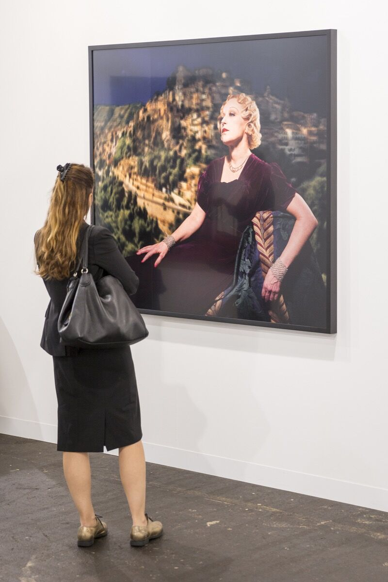 Installation view of work by Cindy Sherman at Metro Pictures's booth at Art Basel, 2016. Photo courtesy of Art Basel.