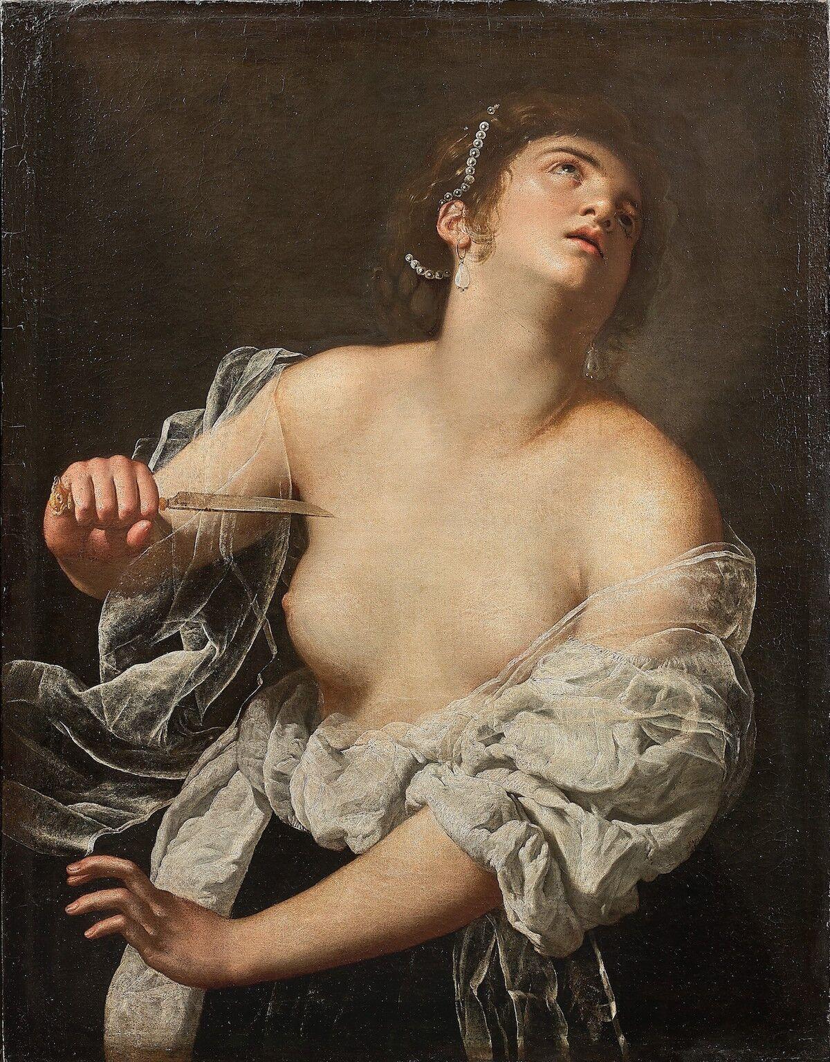 Artemisia Gentileschi, Lucretia, ca. 1630. Est. €600,000–€800,000 ($656,000–$875,000). Courtesy Artcurial.