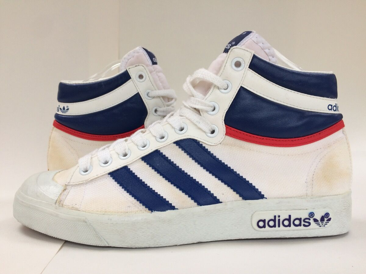 Adidas Hi Top shoes. Courtesy of the Willis Museum.
