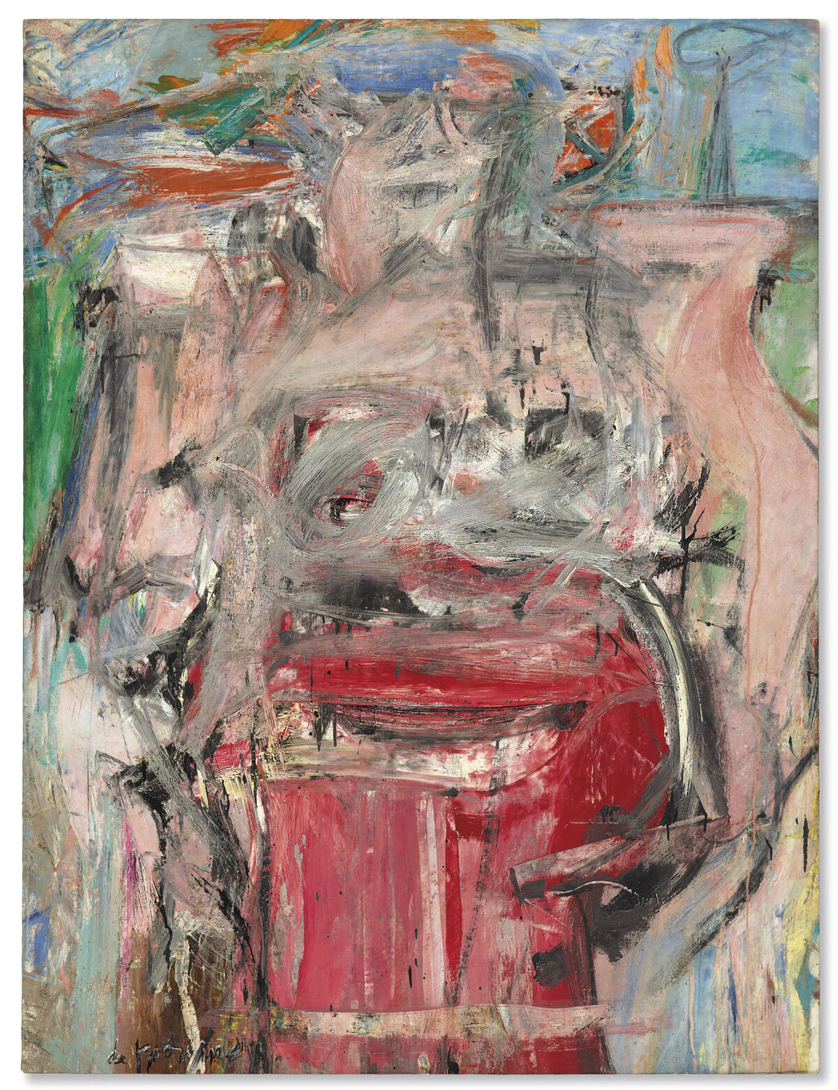 Willem de Kooning, Woman as Landscape, circa 1954-55. Courtesy of Christie's.