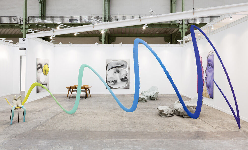 Installation view of work byUrs Fischer and Sarah Lucas at Sadie Coles HQ's booth at FIAC, 2016.Copyright the artist, courtesy of Sadie Coles HQ, London. Photo: Andrea Rossetti