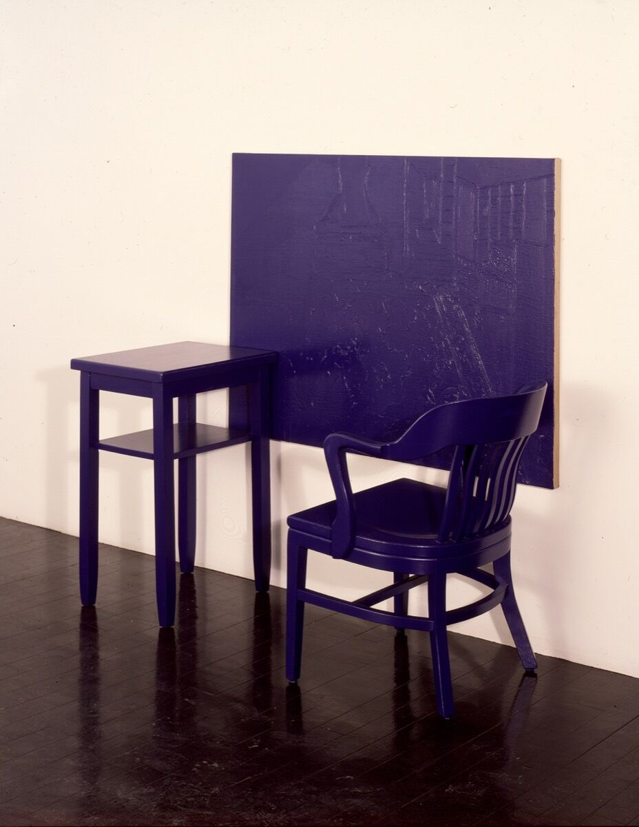 """Dale Henry, Cobalt Blue, Hue Deep – Stable, from the series """"Interiors,"""" 1978. Courtesy of Clocktower Productions."""