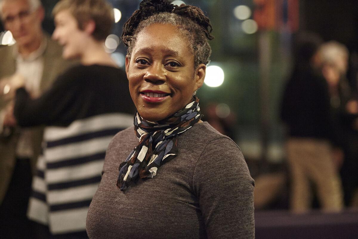 Sonia Boyce. Photo by Paul Cochrane, courtesy of UAL, 2013.