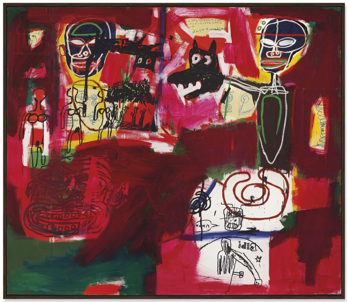 Jean-Michel Basquiat, Sabado por la Noche (Saturday Night), 1984. Courtesy of Christie's.