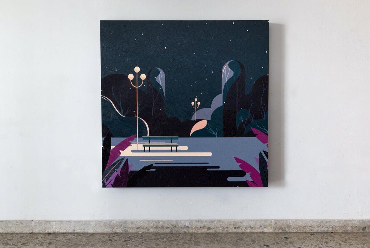 Eduardo Ponjua?n, En la noche, 2020. Courtesy of El Apartamento.