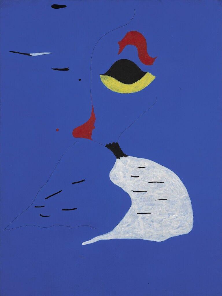 Joan Miró, Peinture (Femme au chapeau rouge), 1927. Courtesy of Sotheby's.