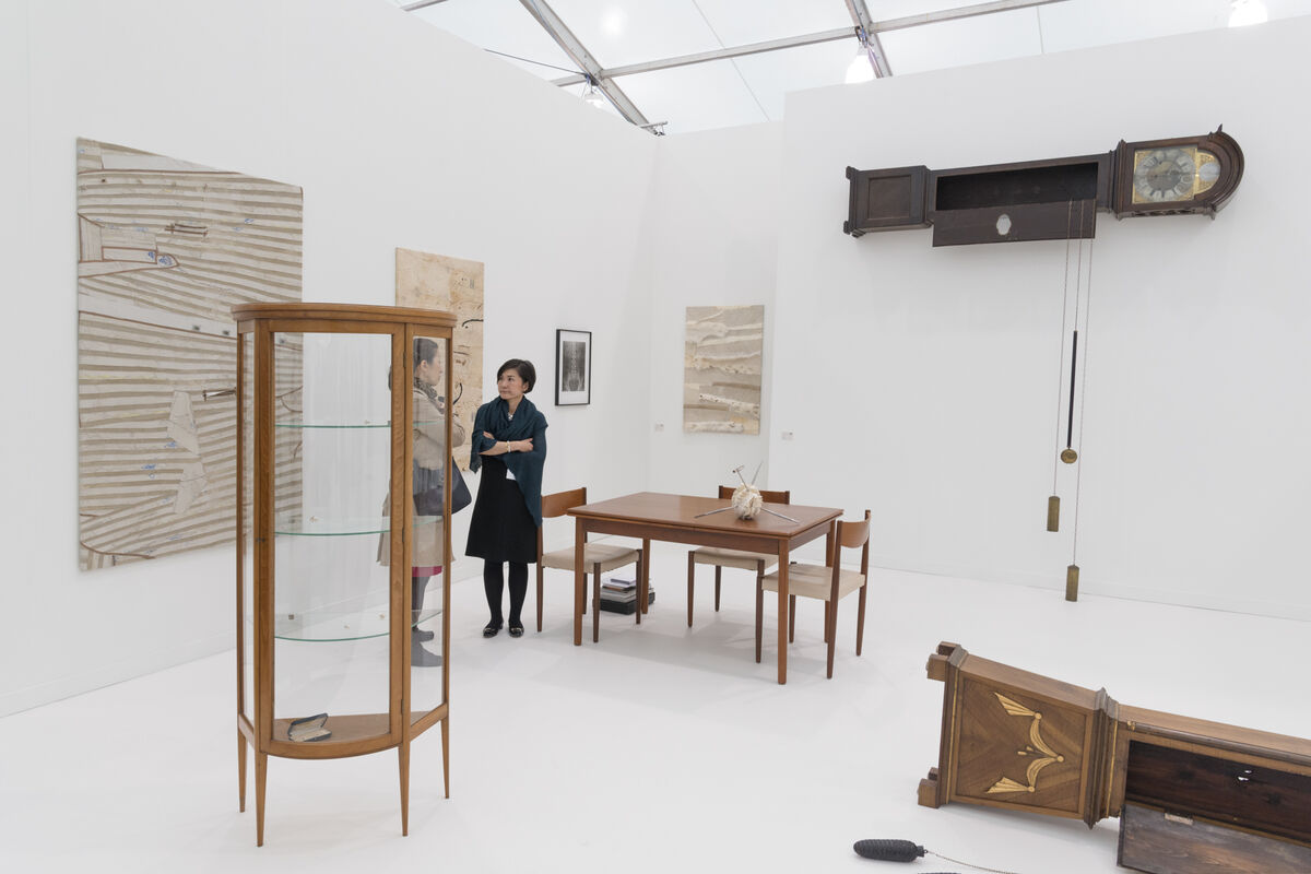 Installation view of Taro Nasu's booth at Frieze New York, 2016. Photo by Adam Reich for Artsy.