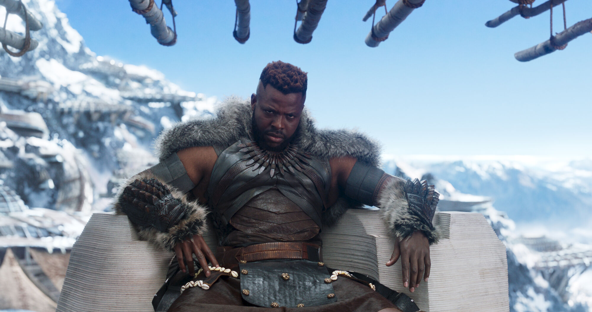 Still from Marvel Studios' Black Panther, featuring M'Baku (Winston Duke). Photo by Film Frame. Courtesy of and ©Marvel Studios 2018.