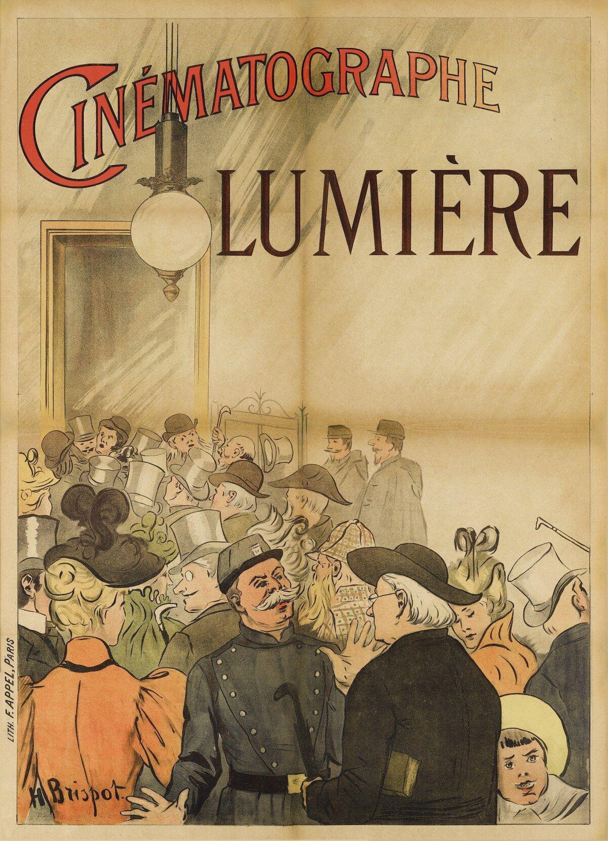 Cinématographe Lumière (1896) poster, French (est. £40,000–60,000). Courtesy Sotheby