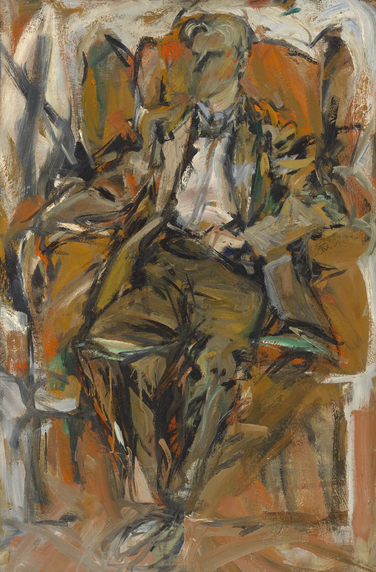 Elaine de Kooning, Willem de Kooning, c. 1952. © Elaine de Kooning Trust. Courtesy of the National Portrait Gallery, Smithsonian Institution.