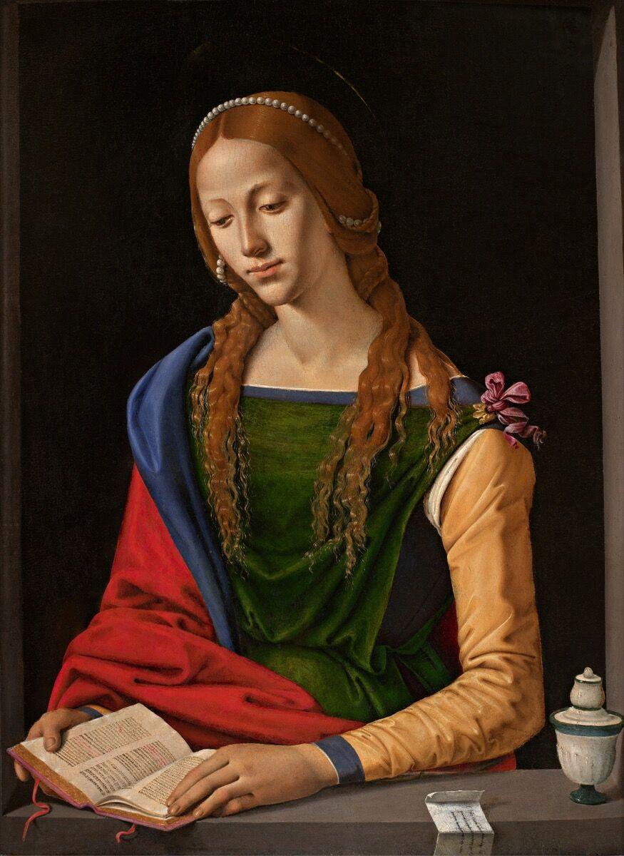 Piero di Cosimo, Saint Mary Magdalene, 1490–95. Image via Wikimedia Commons.