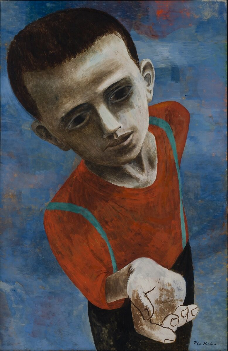 Ben Shahn, Hunger, 1946.     Artwork © Estate of Ben Shahn / Licensed by VAGA at Artists Rights Society (ARS), New York. Courtesy of the Jewish Museum.