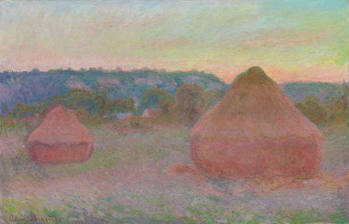 Claude Monet, Stacks of Wheat (End of Day, Autumn), 1890/91. Courtesy of the Art Institute of Chicago.