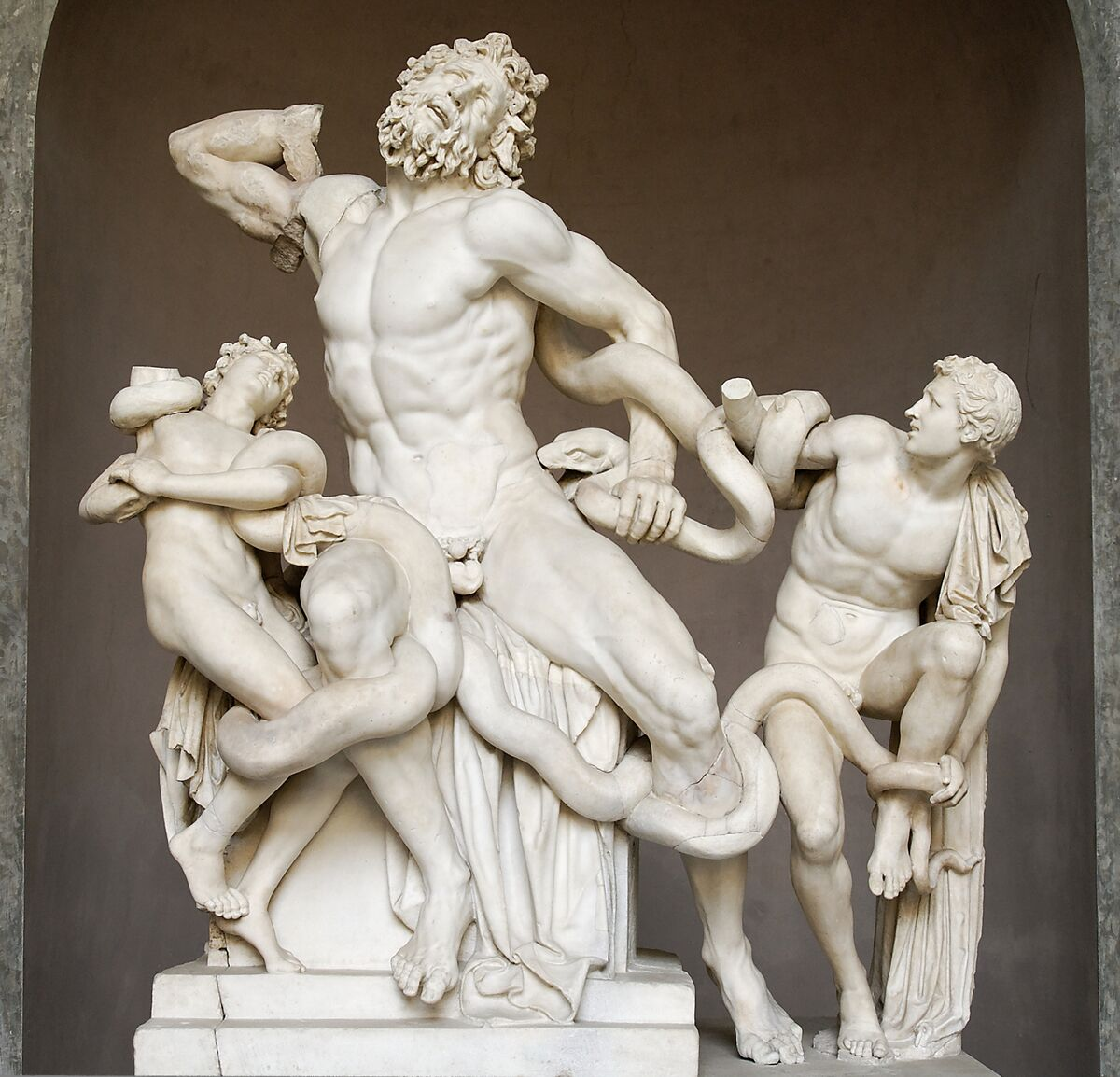 Hagesandros, Athenedoros, and Polydoros, Laocoön and His Sons, 1506. Photo via Wikimedia Commons.