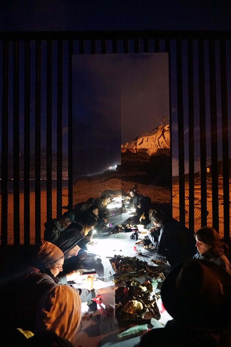 ERRE and Margarita Garcia Asperas, Re/flecting the Border, 2017. Courtesy of the artists.