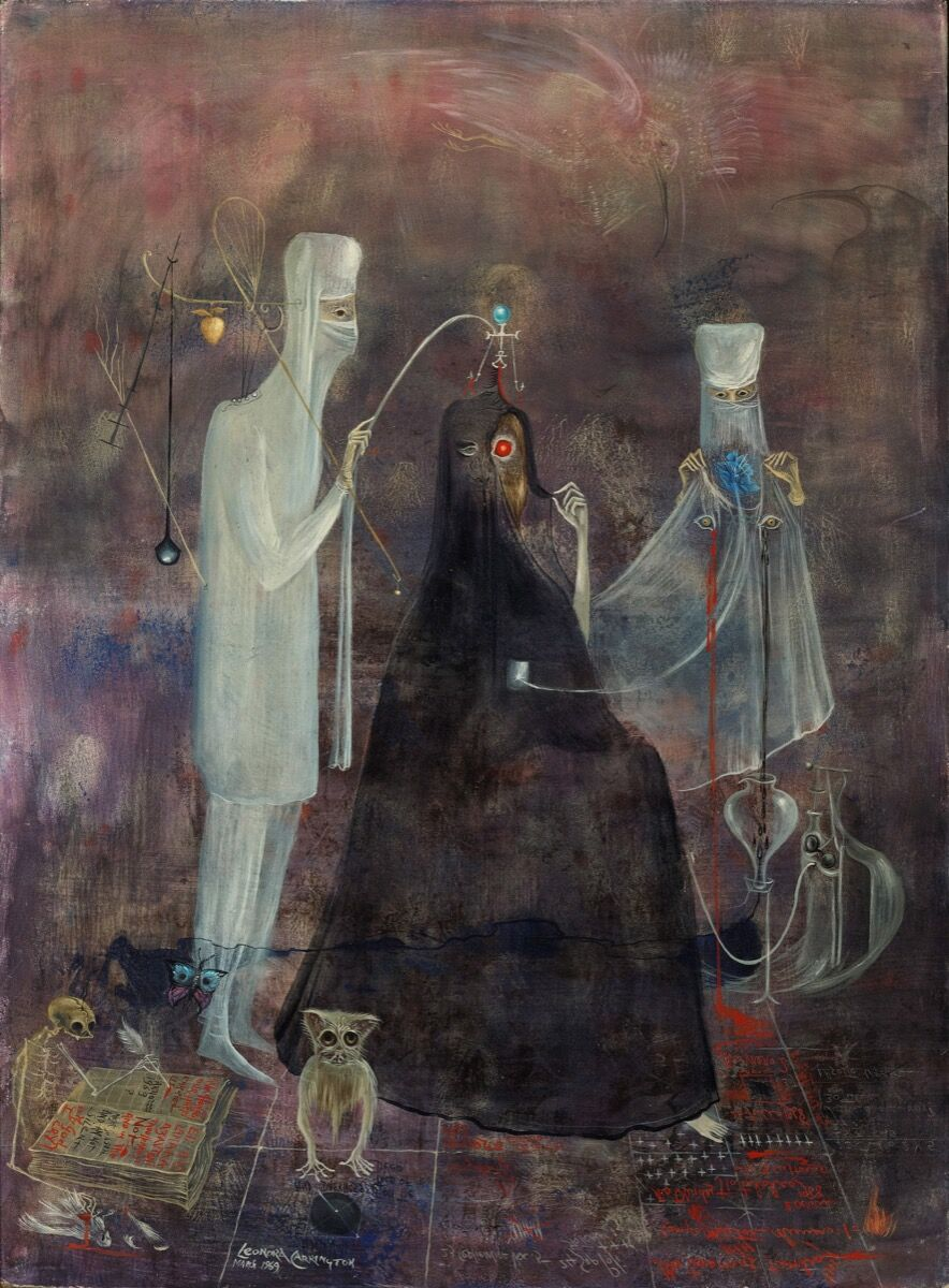 Leonora Carrington, Operation Wednesday, 1969. © 2019 Estate of Leonora Carrington / Artists Rights Society (ARS), New York. Courtesy of Gallery Wendi Norris, San Francisco.