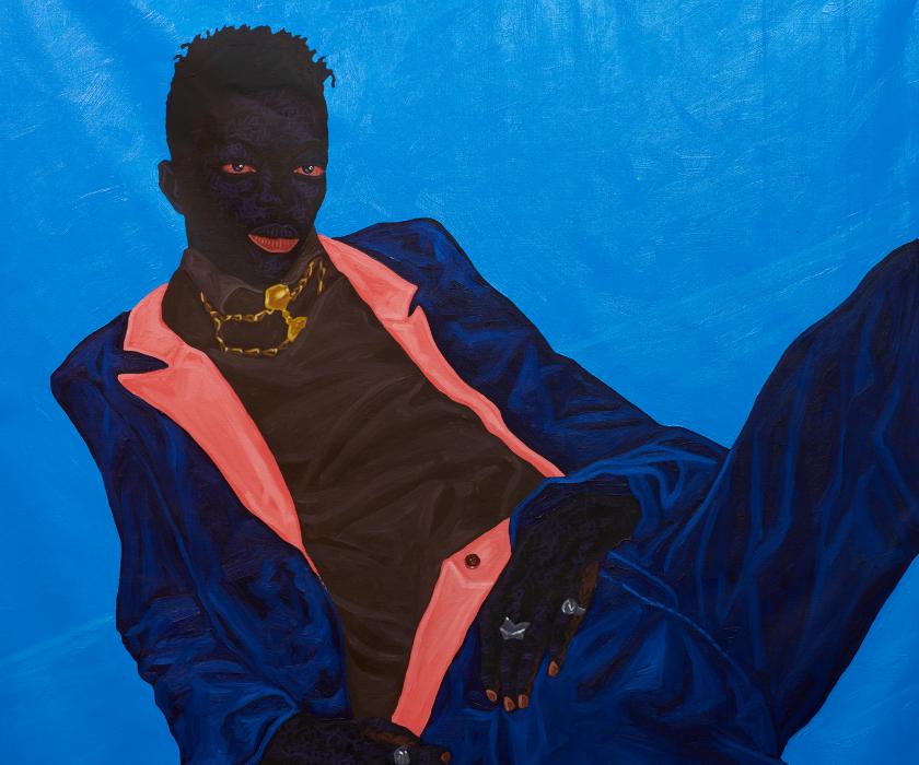 Kwesi Botchway, detail of Guyman, 2021. Courtesy of Gallery 1957.