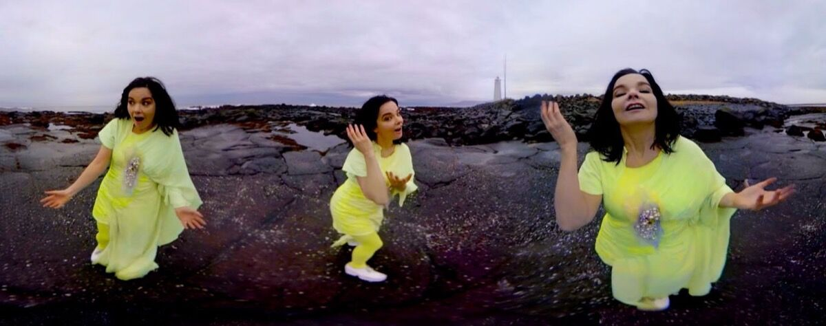 Björk, Stonemilker VR. Photo by Andrew Thomas Huang.
