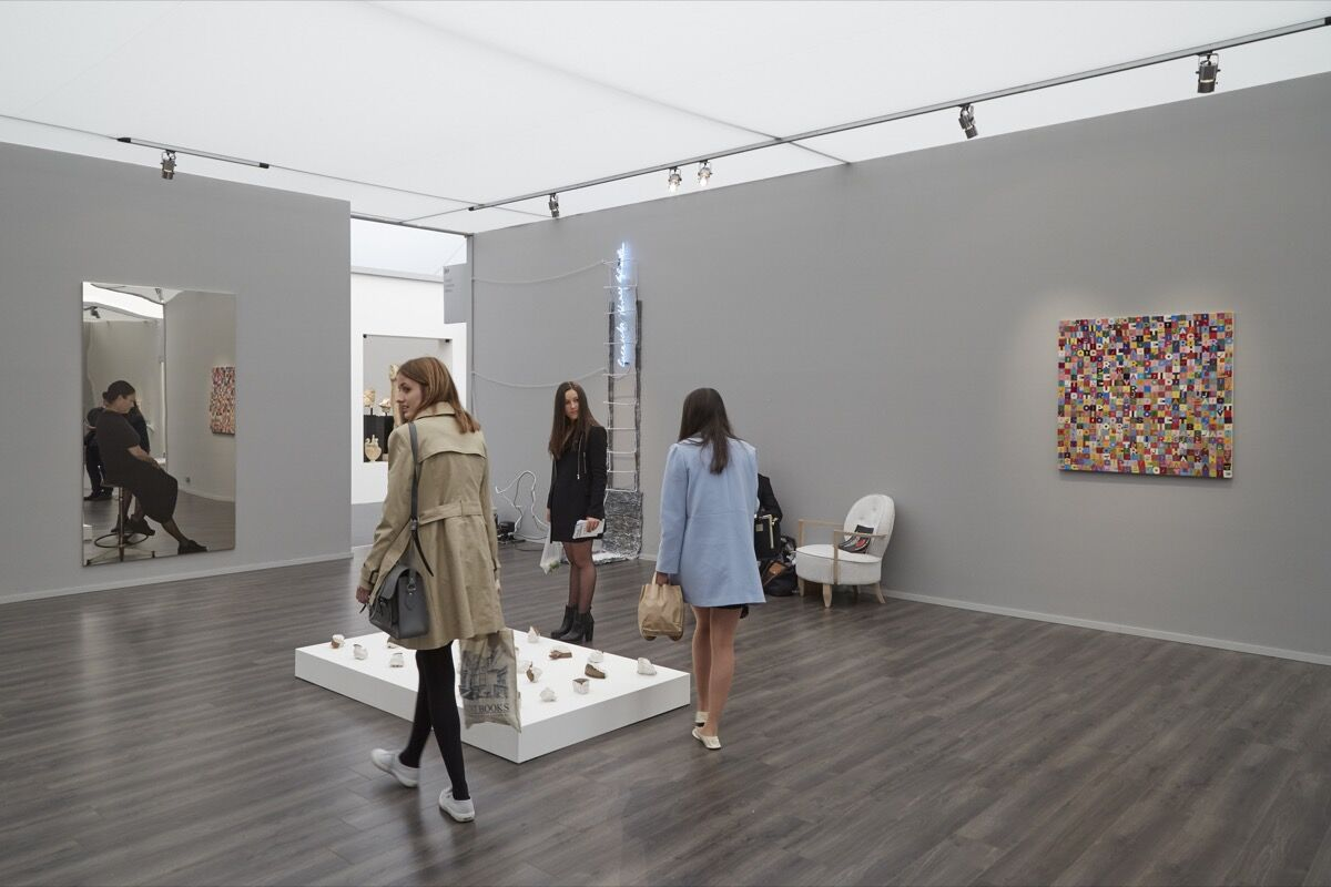 Installation view of Cardi's booth at Frieze London, 2016. Photo by Benjamin Westoby for Artsy.