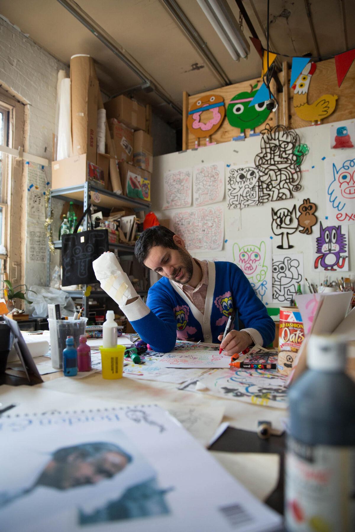 Portrait of Jon Burgerman. Photo by Bas Berkhout. Courtesy of the artist.