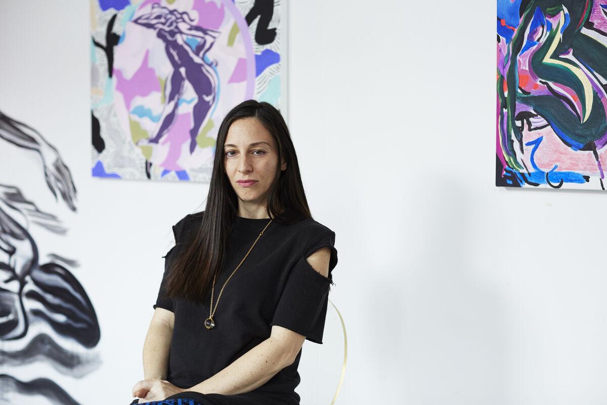 Portrait of Mira Dancy in her New York studio by Emily Johnston for Artsy.