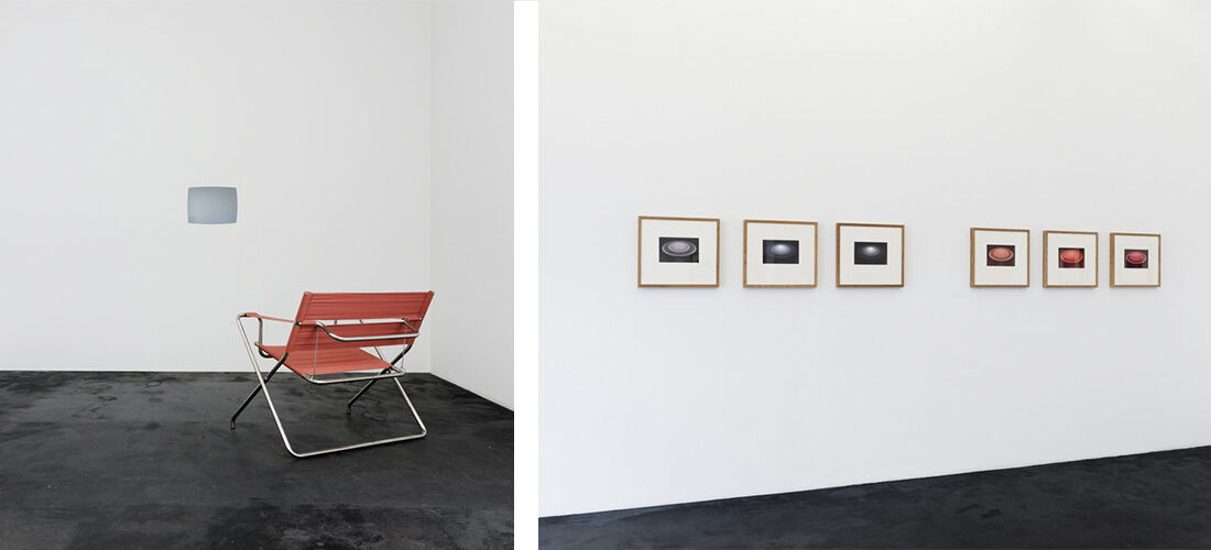 "Installation view of""James Turrell: From the Guggenheim, Aten Reign.""PhotoMischa Scherrer courtesyHäusler Contemporary."