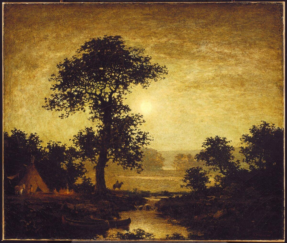 Ralph Albert Blakelock, Moonlight, ca. 1885–89. Courtesy of the Brooklyn Museum.