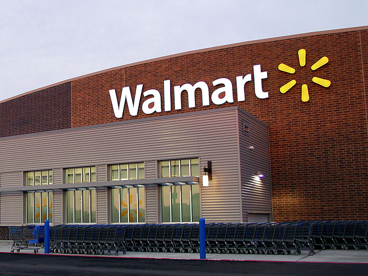 A Walmart store. Photo by Walmart Corporate, via Wikimedia Commons.