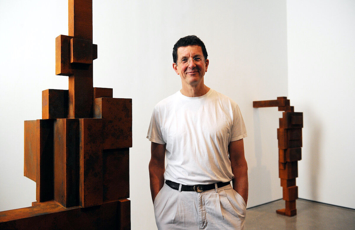 Antony Gormley at the White Cube Gallery, London. Photo by Fiona Hanson/PA Images via Getty Images