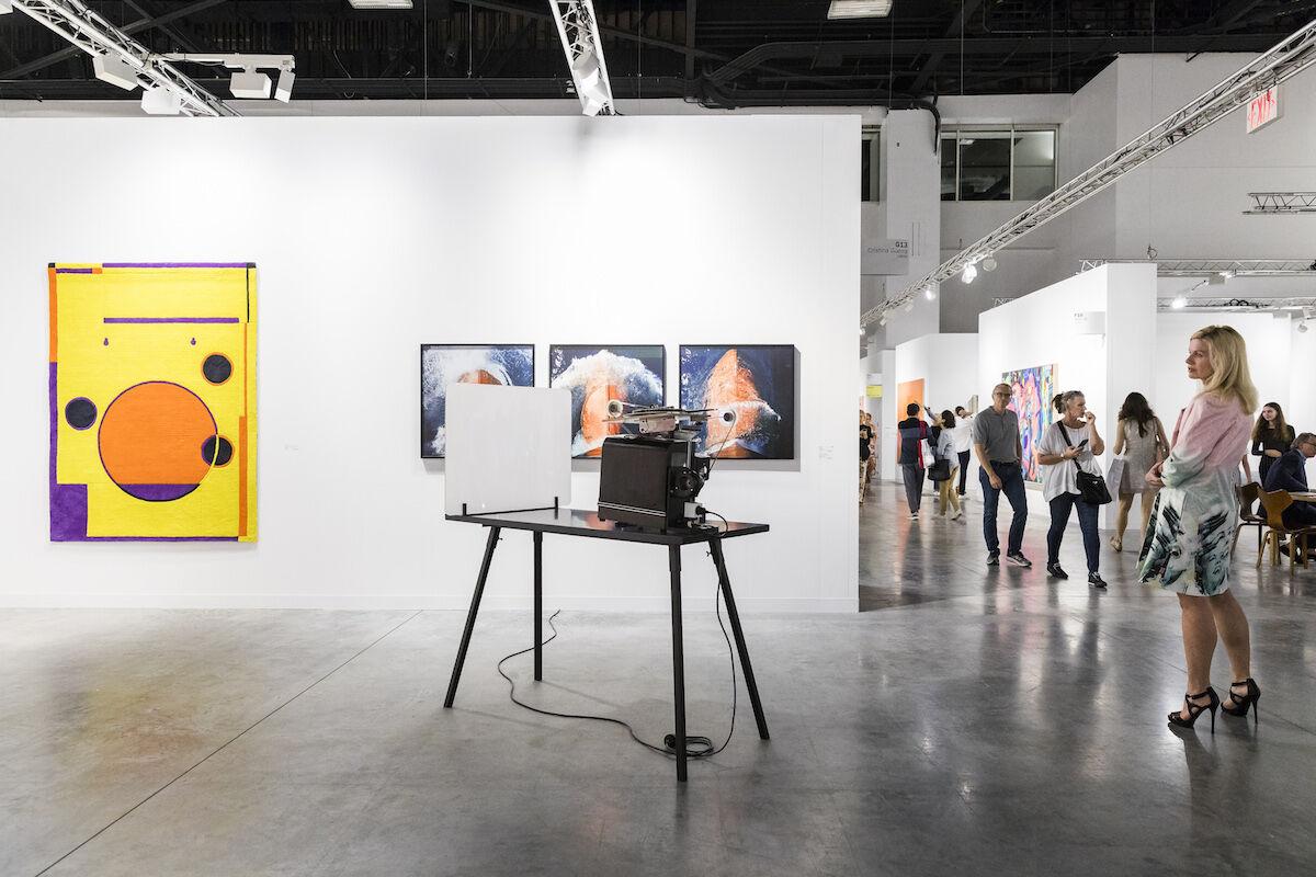 The Cristina Guerra Contemporary Art booth at Art Basel in Miami Beach 2017. Photo © Art Basel.