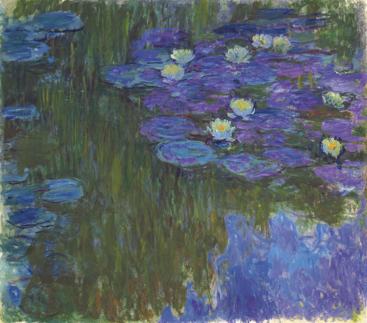 Claude Monet, Nymphéas en fleur, circa 1914-17. Courtesy of Christie's.