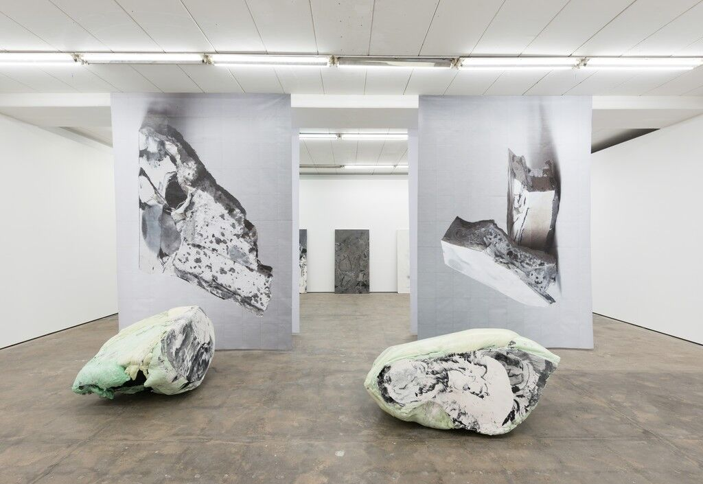 """Installation view of """"Peles Empire: DUO"""" at Wentrup, Berlin. Photo courtesy of Wentrup."""