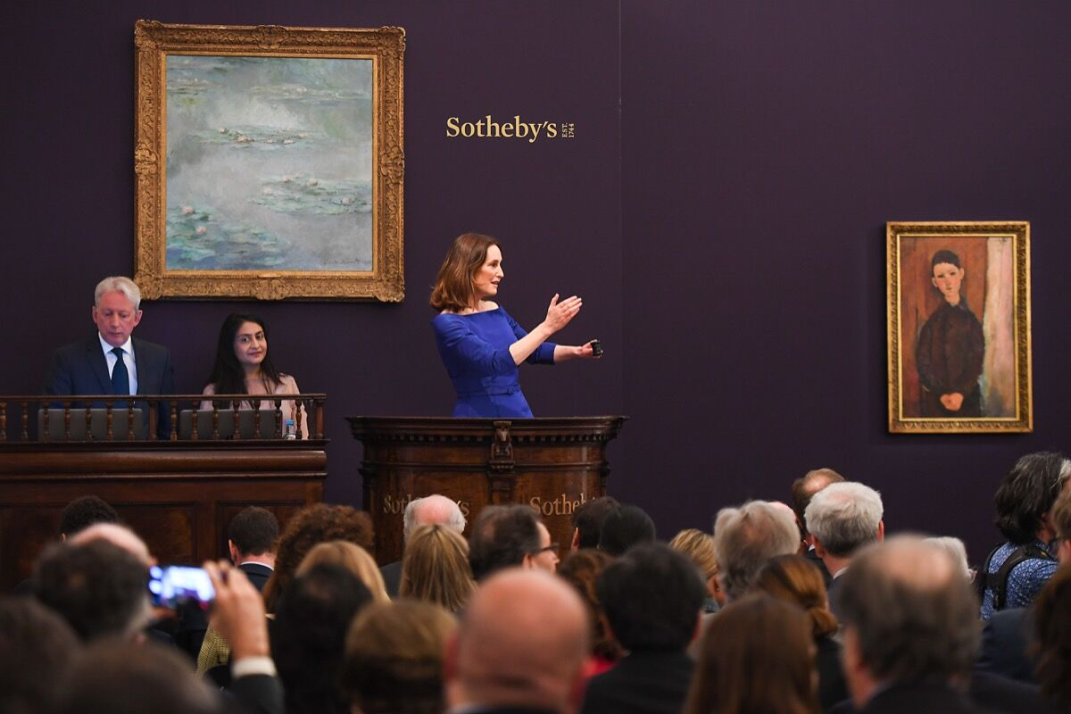 Sotheby's Impressionist & Modern Art Evening Auction in London on June 19, 2019. Photo by Chris J Ratcliffe/Getty Images for Sotheby's.