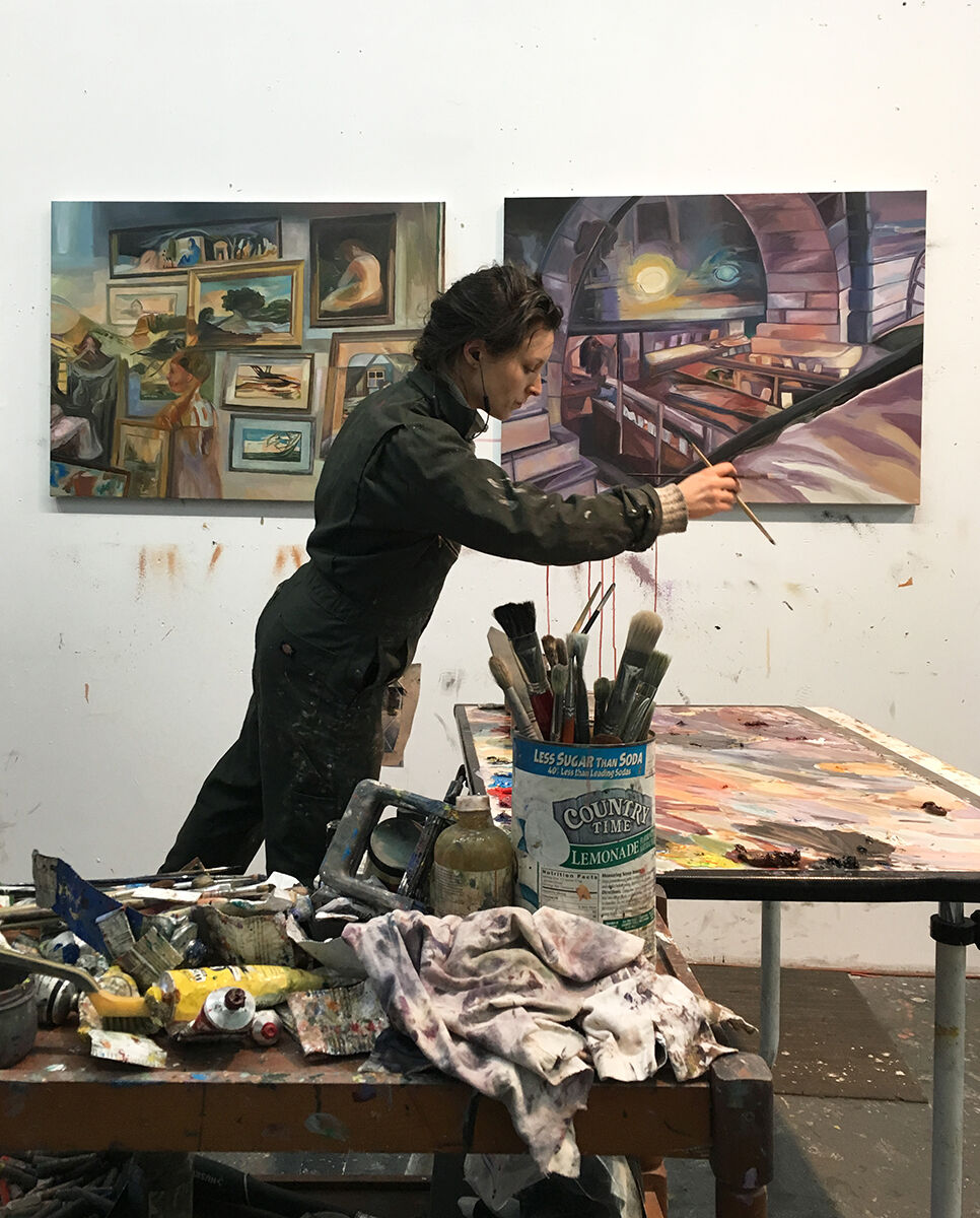 Emily Davidson in her studio. Photo by Stuart Lorimer. Courtesy of the artist.