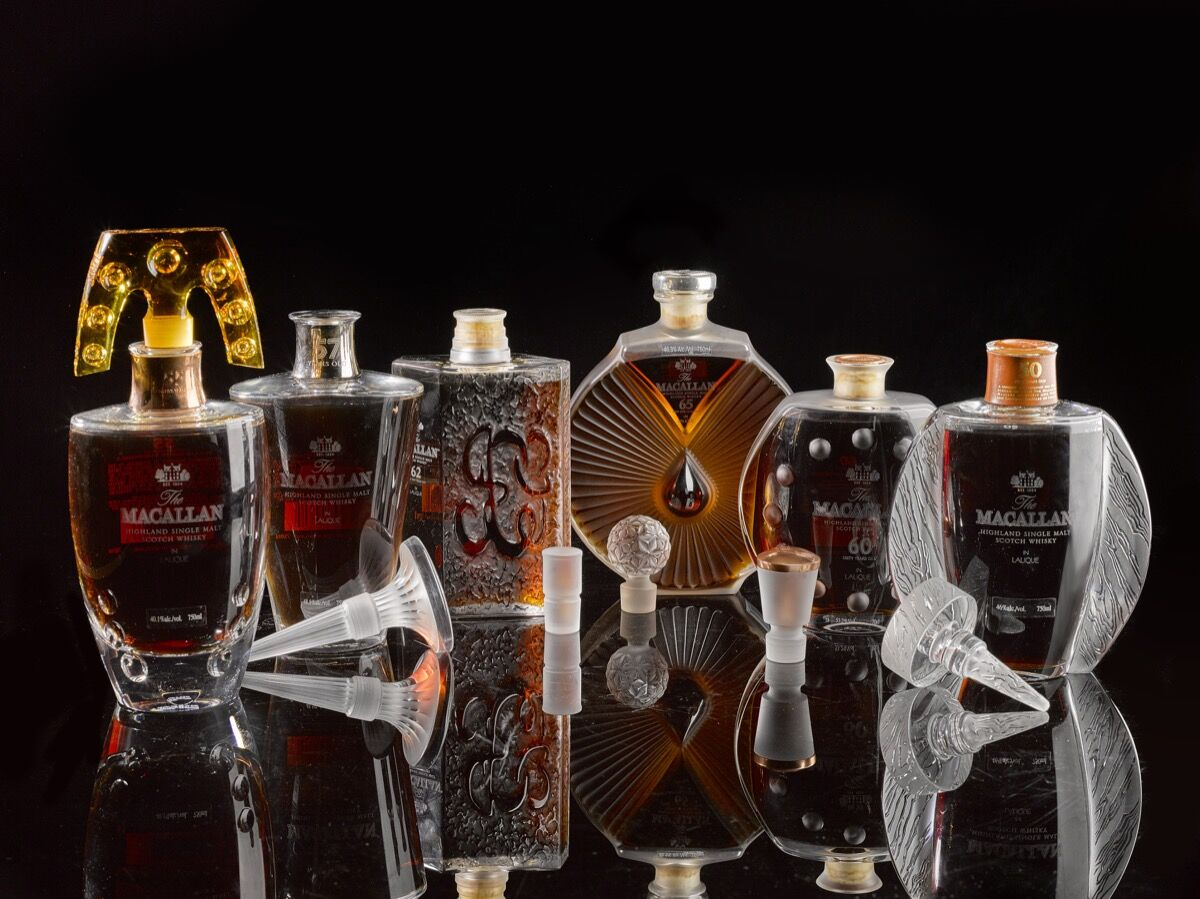 The Macallan 50 Year, Lalique Edition Six Pillars Collection. Courtesy of Sotheby's.