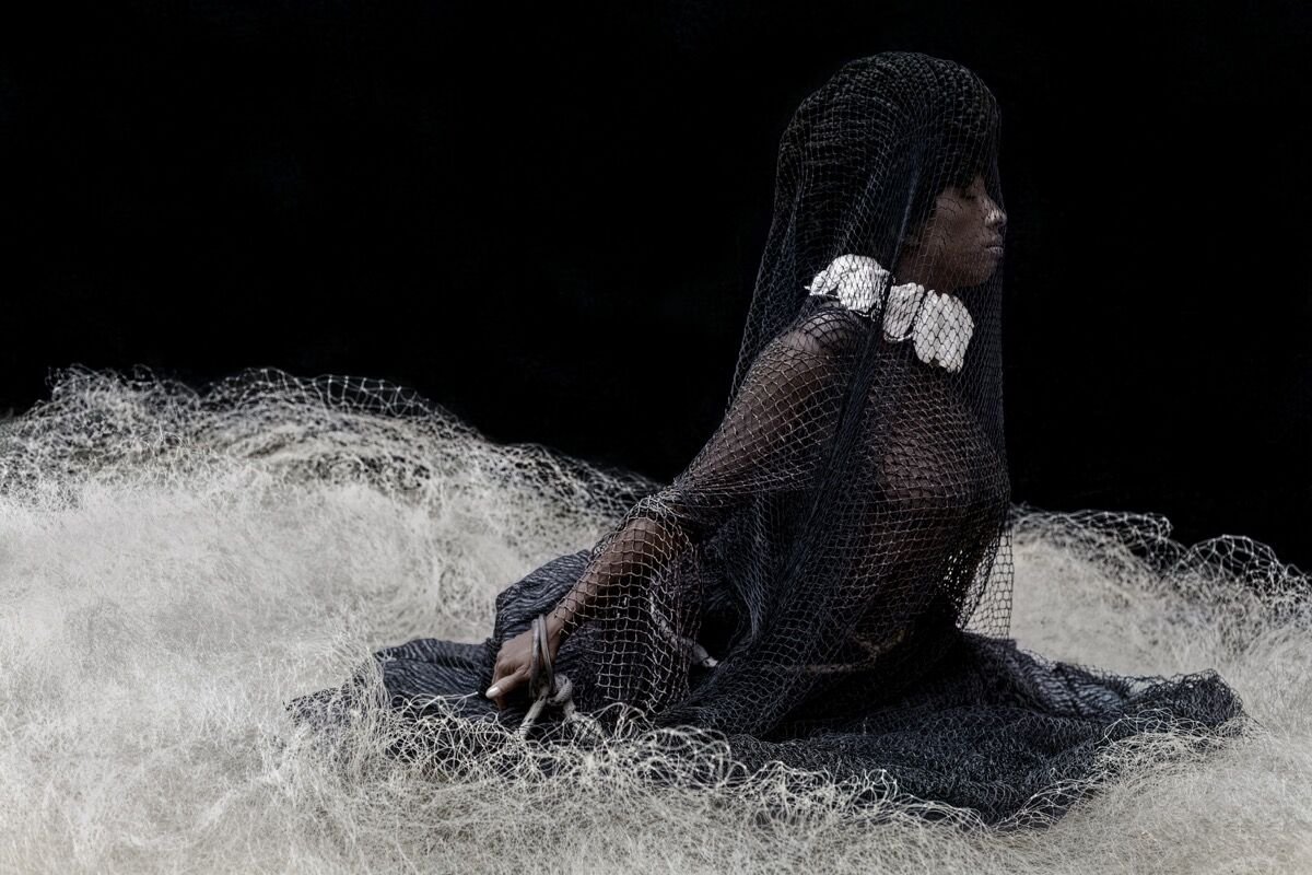 Ayana V. Jackson, Sighting in the Abyss II, 2019. Courtesy Mariane Ibrahim Gallery.