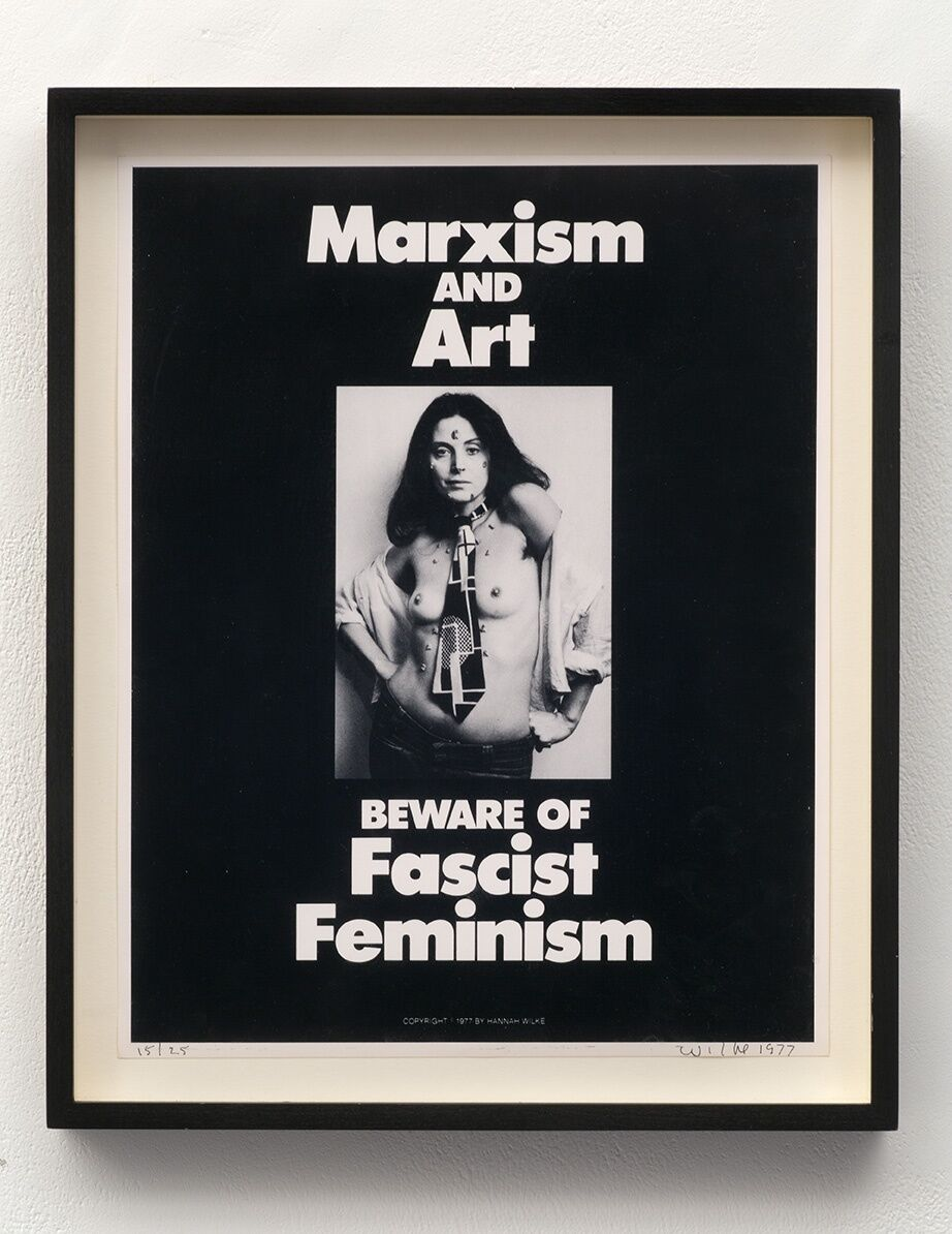 Hannah Wilke, Marxism & Art, 1977. © Marsie, Emanuelle, Damon and Andrew Scharlatt, Hannah Wilke Collection & Archive, Los Angeles. Licensed by VAGA at Artist's Rights Society (ARS), New York, DACs, London.