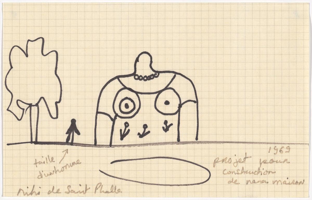 Niki de Saint Phalle, Projet pour construction de Nana maison, 1969. © 2018 Artists Rights Society (ARS), New York / ADAGP, Paris. Courtesy of the Museum of Modern Art.