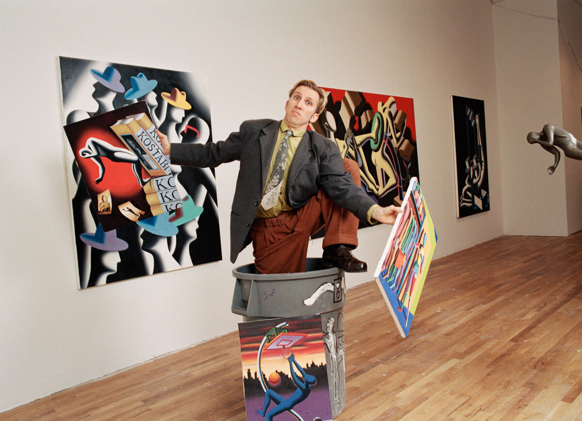 Mark Kostabi in New York City, 1994. Photo by Michael Brennan/Getty Images